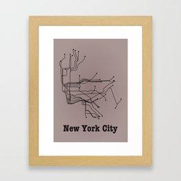 New York City Subway Framed Art Print