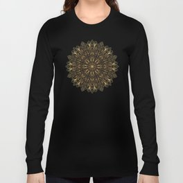 MANDALA IN BLACK AND GOLD Long Sleeve T-shirt