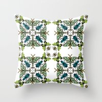 insects Throw Pillows featuring Insects by Phyllida Jacobs