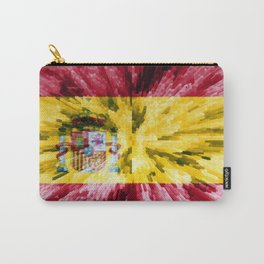 Extruded Flag of Spain Carry-All Pouch