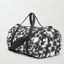 just penguins black white Duffle Bag
