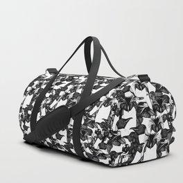 just penguins black white Duffle Bag