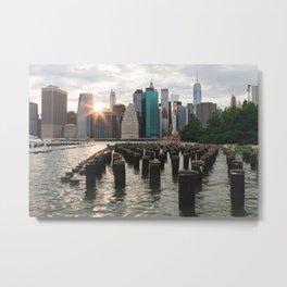 Sunset on Manhattan Metal Print