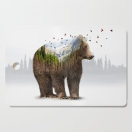 Wild I Shall Stay | Bear Cutting Board