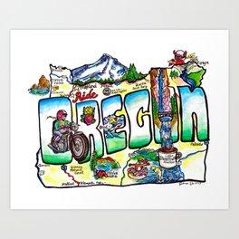 Ride Oregon Art Print