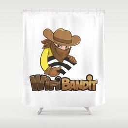 WiFi Bandit Shower Curtain