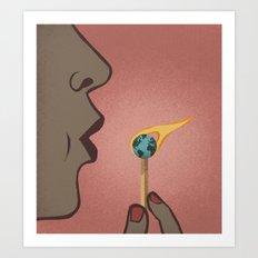 Fighting Global Warming Art Print