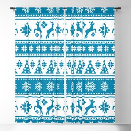 Christmas Holiday Nordic Pattern Cozy Blackout Curtain