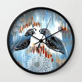 Quails and Grays Wall Clock