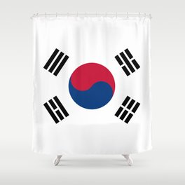 National flag of South Korea, officially the Republic of Korea, Authentic version - color and scale Shower Curtain