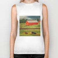 farm Biker Tanks featuring Farm by ArtSchool