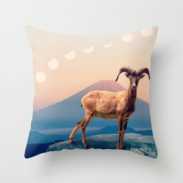 Mountain Ibex by GEN Z Throw Pillow