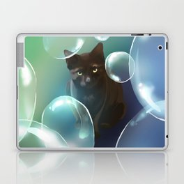 The cat and the bubbles Laptop & iPad Skin