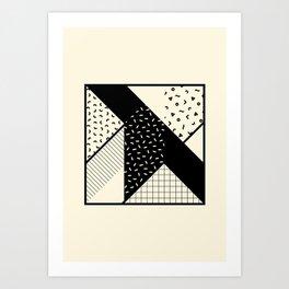 RETROMETRIA MONO 2 Art Print