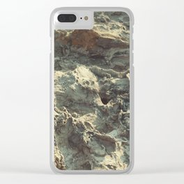 natural collection. vulcan lava. Greece Clear iPhone Case
