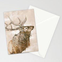Misty Morning Elk Stationery Cards