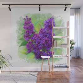 Watercolor Lilac Wall Mural