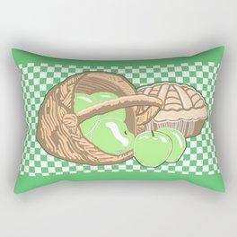 Basket of Granny Smith Apples & Pie Rectangular Pillow