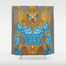 Garuda Warrior Shower Curtain
