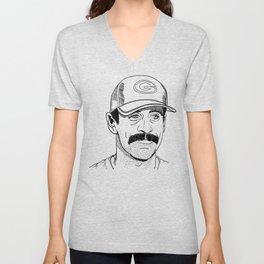 Mustachioed GOAT Unisex V-Neck