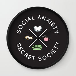 Social Anxiety Secret Society Wall Clock