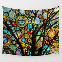 fairy tale Wall Tapestries featuring Fairy Tale Tree by Klara Acel
