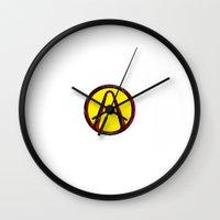 borderlands Wall Clocks featuring Borderlands by erndub