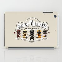 power rangers iPad Cases featuring Brewer Rangers by le.duc