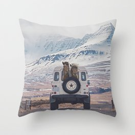 NEVER STOP EXPLORING ICELAND Throw Pillow