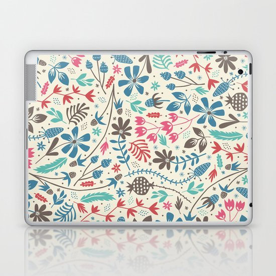 Retro Blooms Laptop & iPad Skin