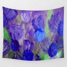 Breaking Dawn in Shades of Deep Blue and Purple Wall Tapestry