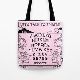 Let's Talk To Spirits | Pastel Pink Black Summoning Board Game Tote Bag