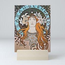 Art Nouveau Woman in Lilies Mini Art Print
