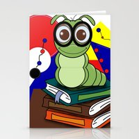 bookworm Stationery Cards featuring Bookworm 2 by Charles Oliver