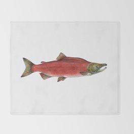 Sockeye Salmon Throw Blanket