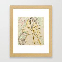 babe in overcoat Framed Art Print