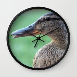 Female Mallard Wall Clock