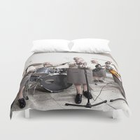 band Duvet Covers featuring Rock Band by Orbon Alija