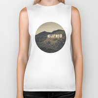 hollywood Biker Tanks featuring Old Hollywood by CMcDonald