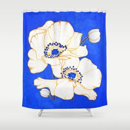 Ultramarine Blue :: Anemones Shower Curtain