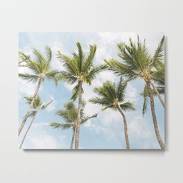 Palm Tree Print Metal Print