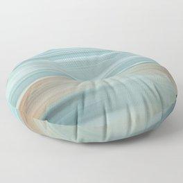 Life (Aqua and Burnt Rose) Floor Pillow
