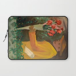 Man with flowers  Laptop Sleeve