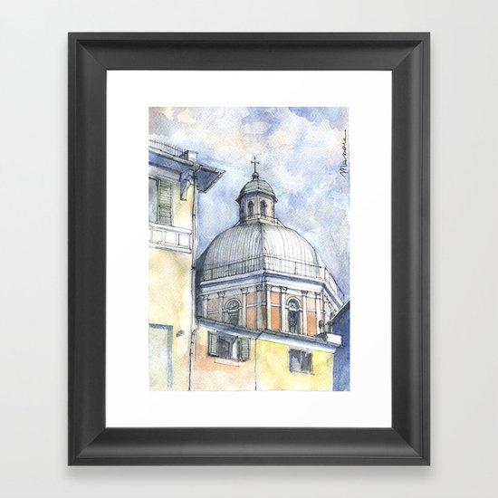 Chiesa A Pegli Framed Art Print