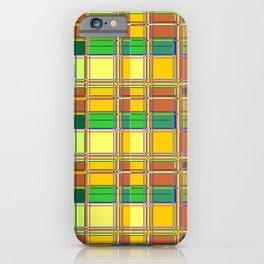Caribbean Colorful Fabric Madras Tartan iPhone Case