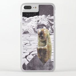 Moon Surface Clear iPhone Case