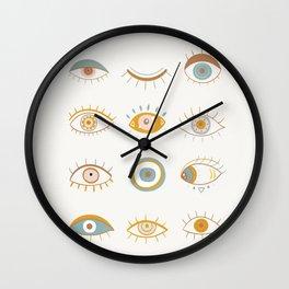 Evil Eyes I Wall Clock