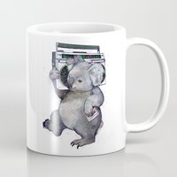 koala Mugs featuring koala  by Laura Graves