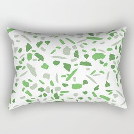Terrazzo Green and Grey Mosaic Pattern  Rectangular Pillow