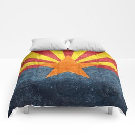 State flag of Arizona, the 48th state Comforters